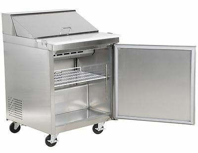 Commercial Kitchen Duty 27 Sandwich Salad Prep Table Refrigerator Cabinet