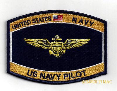 US NAVY PILOT WING HAT PATCH TOPGUN PIN UP F18 F4 E2 A6 E2 C130 CH46 53 NR SL800