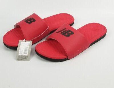 New Balance Athletic Sandalen (Mens NB Logo New Balance Athletics Pro-Team Slides Sandals Red / Black Size 13)
