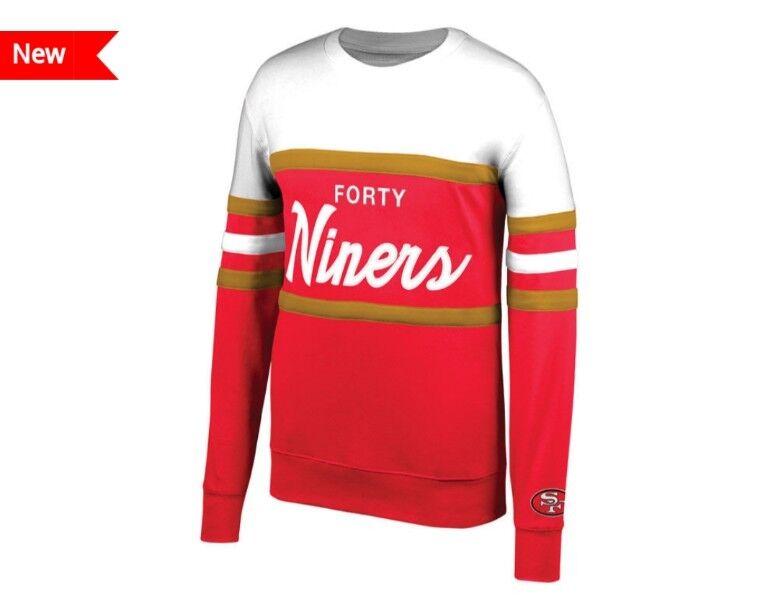 31196552ca09c NEW San Francisco 49ers Mitchell & Ness NFL Men's Head Coach Crew Sweatshirt
