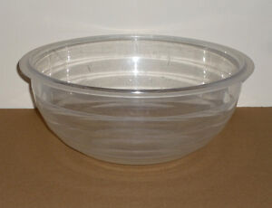 """13.5"""" Wide Clear Heavy Gauge Plastic Bowl : As Shown .. Cambridge Kitchener Area image 1"""