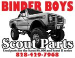 Binder Boys Scout Parts