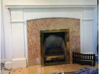 Fireplace Surround - Marble - Gas Fire