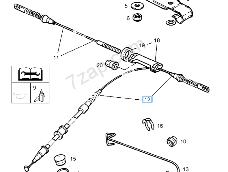 Vauxhall Corsa Tigra Lh Handbrake Cable Part No 90445985 For Sale