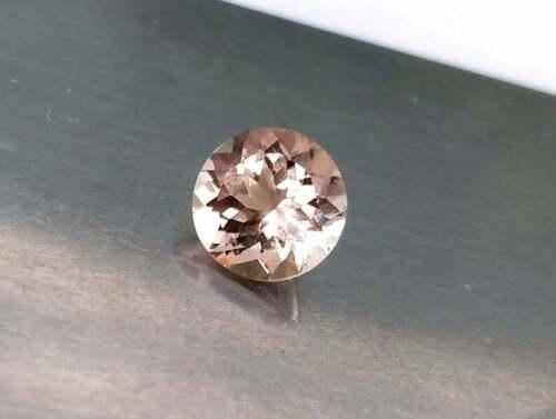 7MM Brilliant Peach Morganite Loose Gemstones Morganite For Ring