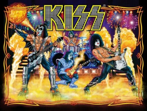 KISS Band 24 x 32 Pinball Stage Shot Reproduction Poster - Rock Collectibles