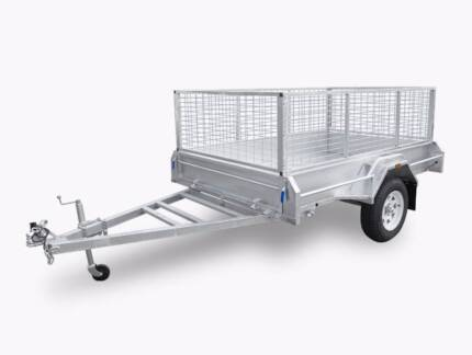 Quality 6x4 7x4 7x5 8x5 8x6 Single Axle Box Trailers Best Price
