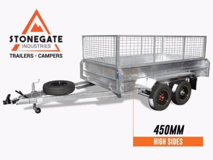 FREE 600mm Cage |  10x5, 10x6 Cage Trailer | Heavy Duty