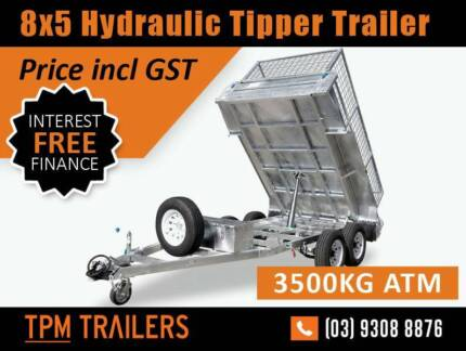 8x5 3.5T HYDRAULIC TIPPER GALVANISED TRAILER Campbellfield Hume Area Preview