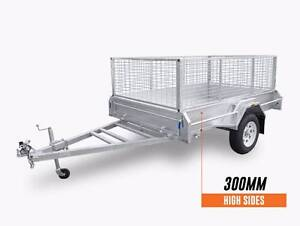 8x5 welded HotDippedGal CageTrailer 1500mm Drawbar Coopers Plains Brisbane South West Preview