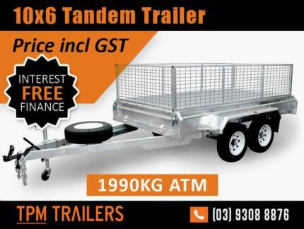 10x6 tandem trailer galvanised Top Quality Campbellfield Hume Area Preview