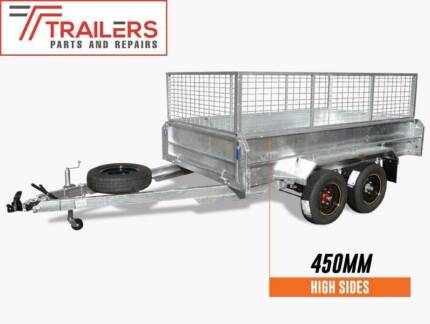 New Tandem 8x5 Galvanised Box Trailer 450mm Sides 600mm Cage Currumbin Waters Gold Coast South Preview