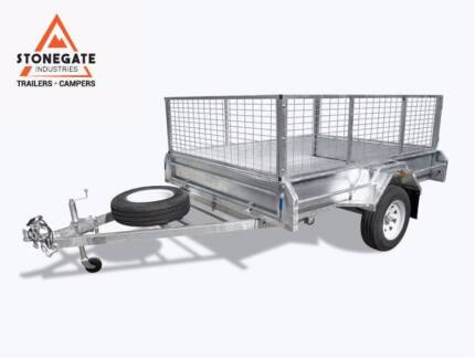 8x6 Trailer Hot Dipped Galvanized Box Trailer Fully Welded Tilt