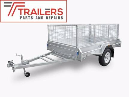New Fully Welded 8x5 Box Tipping Trailer 600mm cage 300mm sides Currumbin Waters Gold Coast South Preview