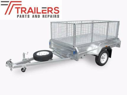 New 7x4 Fully Welded Box Tipping Trailer Galvanised 600mm cage Currumbin Waters Gold Coast South Preview