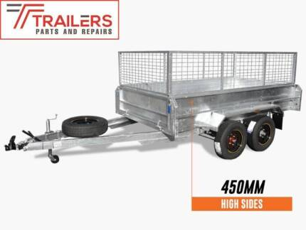 BRAND NEW 10x5 GALVANISED TANDEM BOX TRAILER 600 CAGE 450MM SIDES Currumbin Waters Gold Coast South Preview