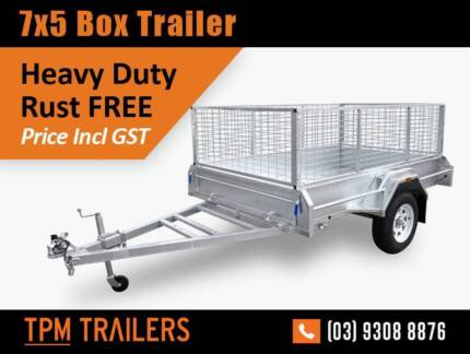 7X5 8x5 Welded Hot Dip Galvanised Trailers Ultra Long Drawbar Campbellfield Hume Area Preview