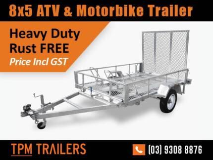 Crazy Price 8×5 Bike & ATV TRAILER Hot dip Gal! Campbellfield Hume Area Preview