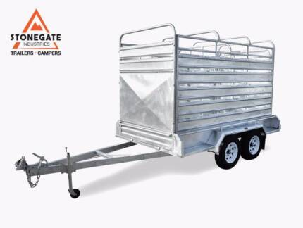 10x6 Tandem Trailer Cattle Crate 3.5Ton ATM HeavyDuty Hot Dip Gal