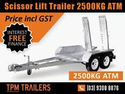 Scissor Lift/Excavato trailer 2500kg Hot Dip Galvanised Rust Free Campbellfield Hume Area Preview