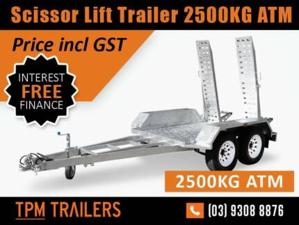Scissor Lift/Excavato trailer 2500kg Hot Dip Galvanised Rust Free Campbellfield Hume Area Preview