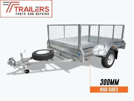 8x6 Galvanised Box Tipping Trailer 300mm sides and 600mm cage Currumbin Waters Gold Coast South Preview