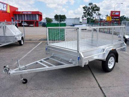 All New 8x5 Box Trailer with 900mm High Cage | Hot-dip Galvanised