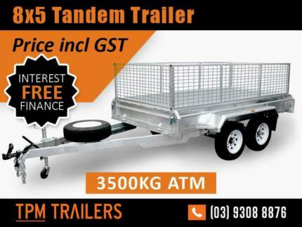 8x5 3.5 tonne Tandem Trailer Super Heavy Duty Campbellfield Hume Area Preview