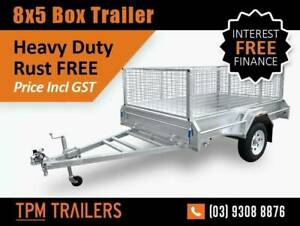8x5 Cage Trailer Hot Dip Galvanized Fully Welded