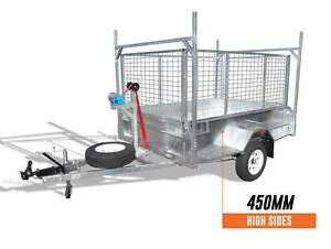 FREE LADDERRACK ATM1400KG 8x5 HeavyDuty Tipper Trailer 450mmSides Coopers Plains Brisbane South West Preview