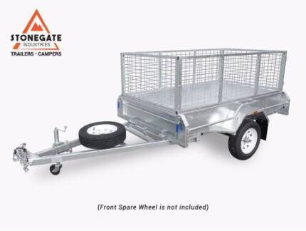 Quality 7x5 Trailer with 600mm High Cage | Hot-dip Galvanised