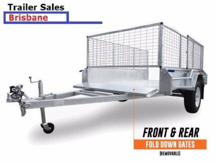 Brand New trailer 8 x 5 BOX CAGED FULLY WELDED Hot dip Galvanised