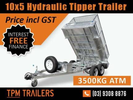Special Deal ! 10x5 HYDRAULIC TIPPER TRAILER ATM3500KG Campbellfield Hume Area Preview
