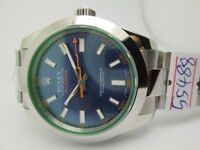 Milgauss 116400 GV Green Sapphire glass and blue dial