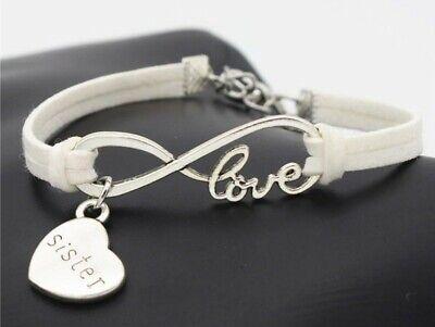Silver Plated Infinity Love Knot Leather Bracelets