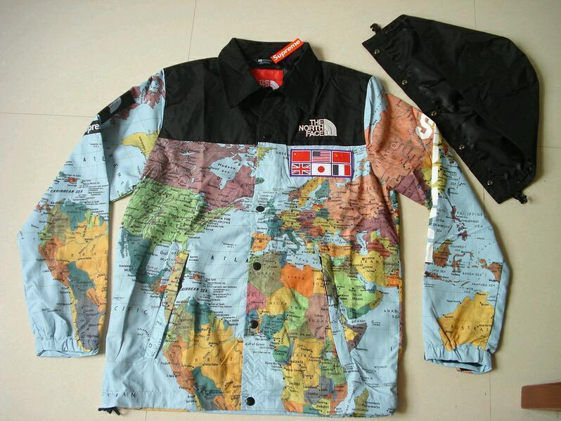 northface x supreme expedition map jacket size m only willing to