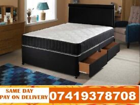 DOUBLE DIVAN BED WITH ORTHO MEMORY FOAM MATTRESS