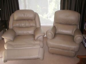 Leather recliner chairs x 2 Armidale Armidale City Preview