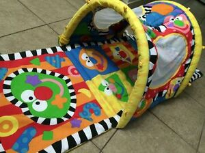 Baby Activity Play Gym / Mat / Tunnel - Foldable.