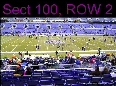 2 MIDFIELD LOWER LEVEL Baltimore Ravens Season Tickets PSL License Rights SBL