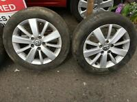 "VOLKSWAGEN GOLF MK6 MK7 GENUINE PESCARO CROFT 16"" ALLOY WHEELS & TYRES SET OF 4"