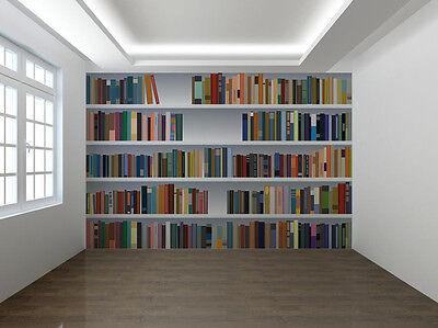 Gefälschte Bücherschrank 3D Foto Wandtapete Wandgemälde (7333978)
