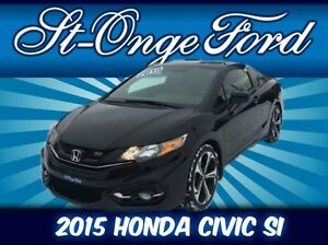 Honda Civic Coupe Si 2015, pneus hiver inclus, Garantie prolongé