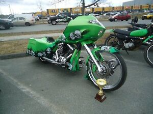 Custom HD Mustang Green Road Glide