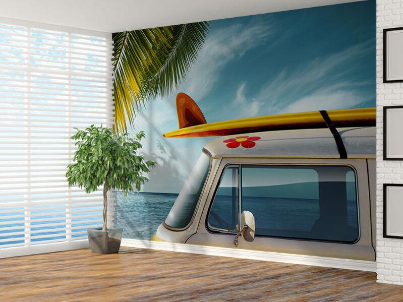 Wohnmobil Strand Surfen Foto Wandtapete Wandgemälde (6582453) Surf Bus