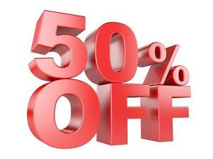 50% OFF EVERYTHING IN STORE MAY 20 AND 21
