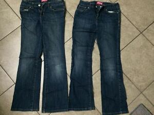 TWO PAIRS of Old Navy Boot Cut jeans - size 12 girls.