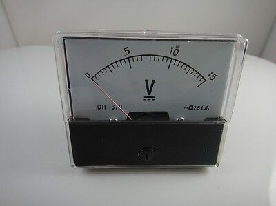 Analog Volt Voltage Voltmeter Panel Meter Dh-670 Dc 0-15v