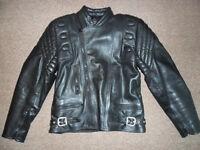 motorcycle jacket size 38 black leather like new sportex a5 style