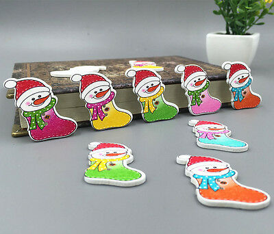 Christmas snowman socks Wooden Buttons Fit Sewing Decorative Crafts Wood 33mm - Wooden Snowman Crafts